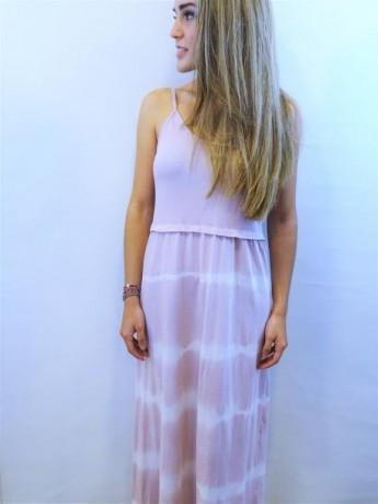 Vestido largo de mujer con estampado tie day