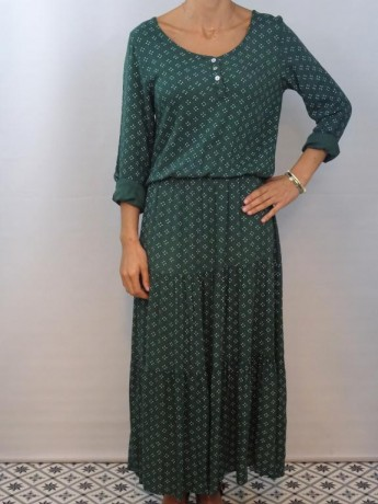 Vestido de mujer largo colección puntitos.