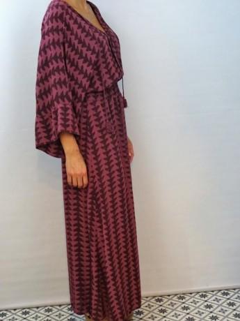 Vestido de mujer estampada de la colección helechos.