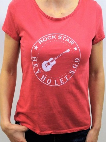 Camiseta de mujer manga corta Rock Star.