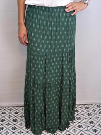 Falda larga de mujer con dibujo lagrimas