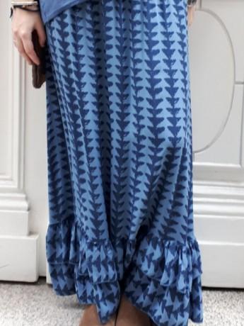 Falda larga de mujer estampada