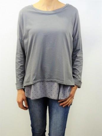 Camiseta de mujer doble con tela  de estrellas .