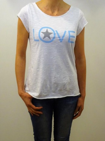 Camiseta de mujer manga corta LOVE STAR.