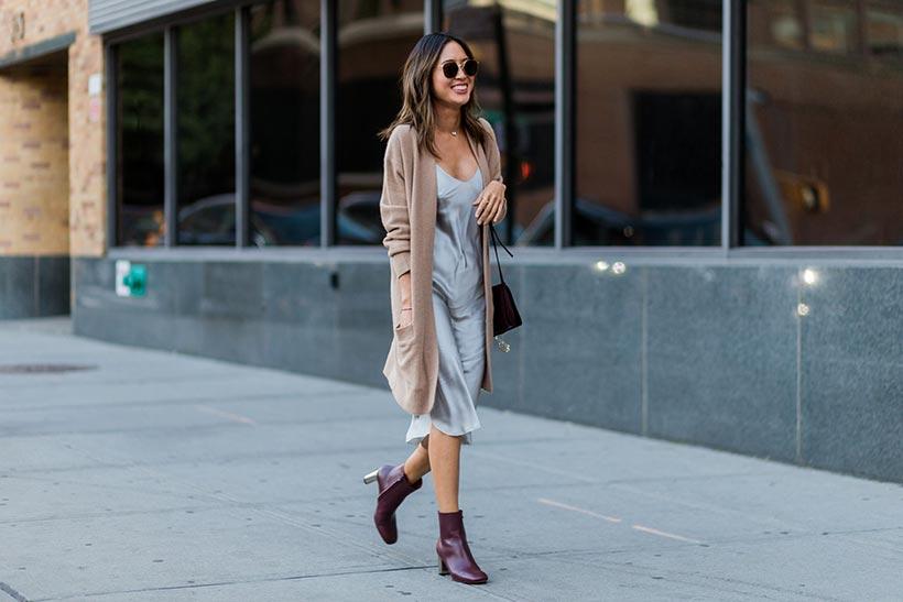 Look vestido lencero