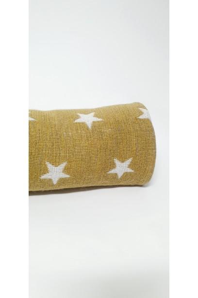 Bufanda estrellas mostaza
