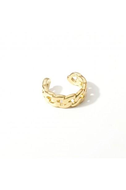 EAR CUFF dorado trenzado