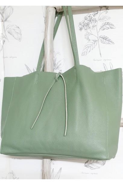 Bolso de piel Personalizado modelos shopping verde