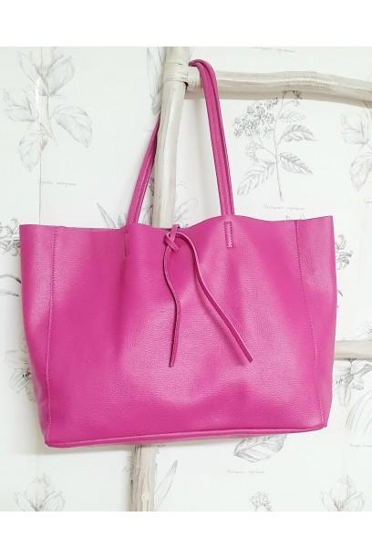 Bolso de piel Personalizado modelos shopping fucsia