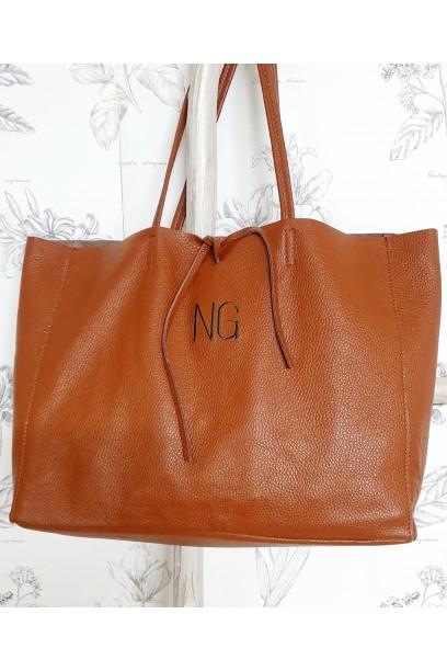 Bolso de piel Personalizado modelos shopping marrón