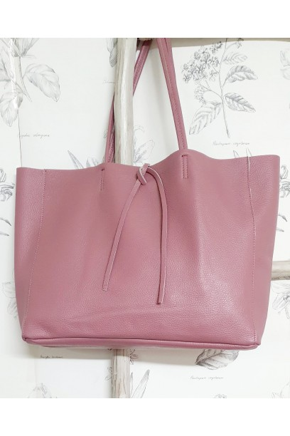 Bolso de piel Personalizado modelos shopping Rosa antiguo