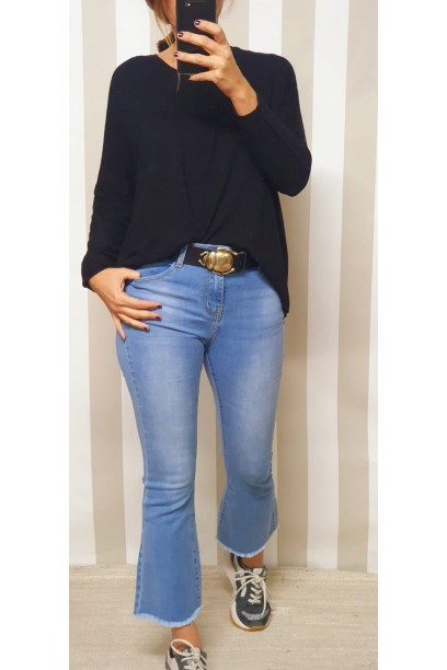 Jeans flare  azul