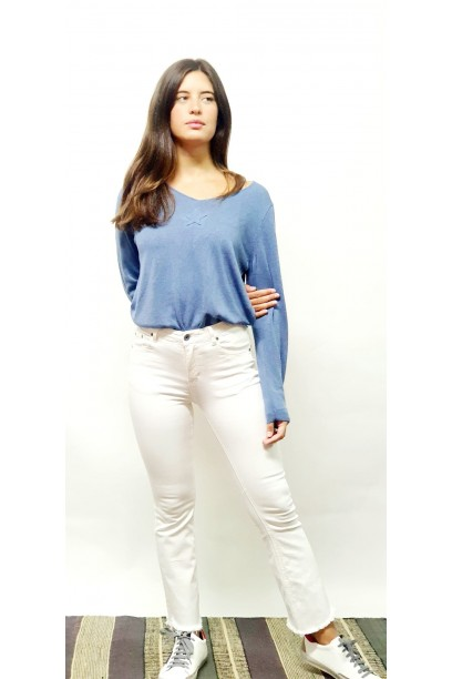 Jeans teen flare  blanco