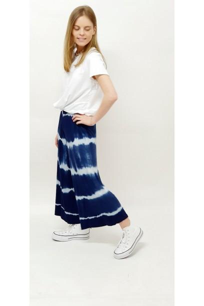 Pantalón culotte tie dye azul marino