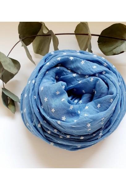 Fular estrellas azul jean
