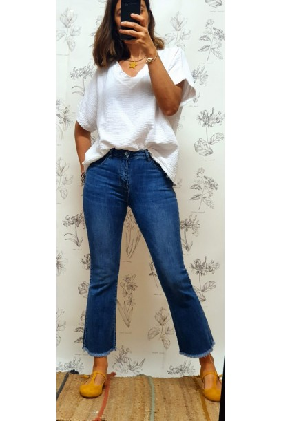 Jeans flare azul oscuro
