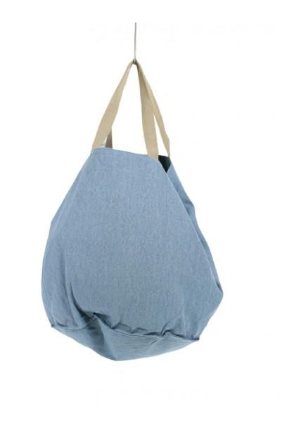 Bolso de loneta oversize azul