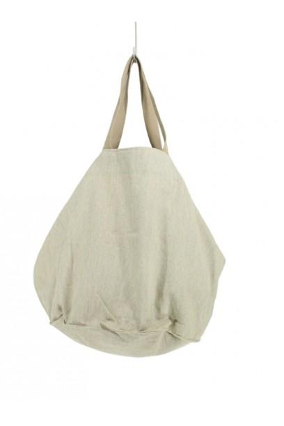 Bolso de loneta oversize beige