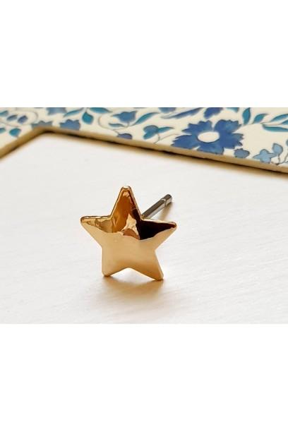 Pendiente estrella dorada