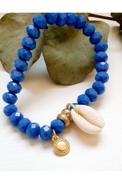 Pulsera ajustable con piedras y azulón