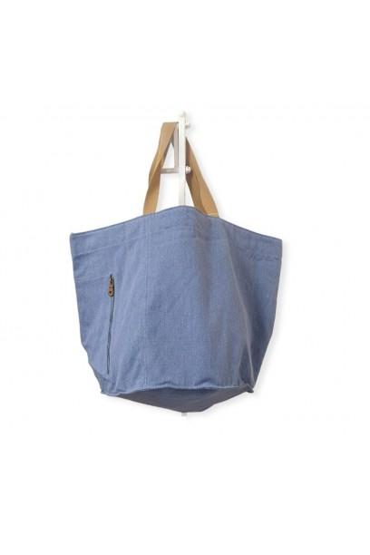 Bolso de playa oversize azul