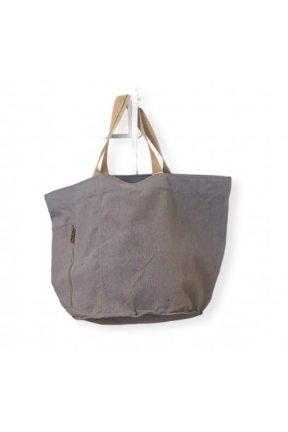 Bolso de playa oversize gris
