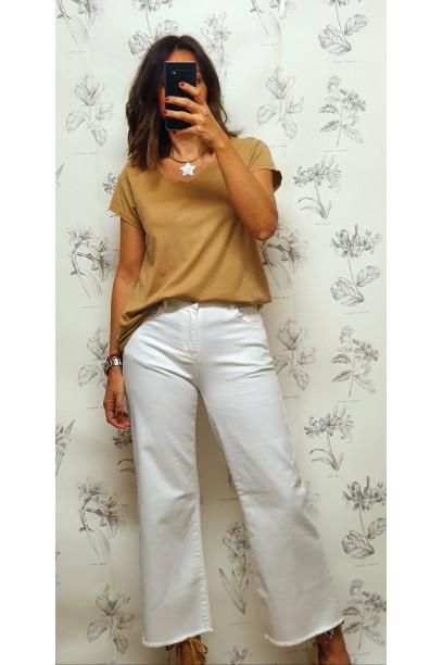 Jeans culotte blanco