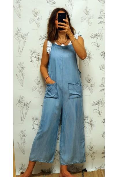 Mono vaquero con bolsillos azul jeans