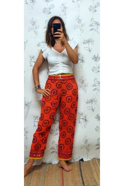 Pantalones de telas indias naranja