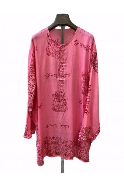 Kurta de mujer con tela India rosa