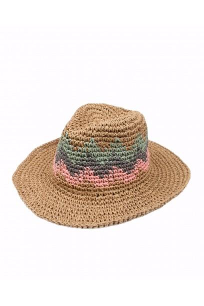 Sombrero de playa combinado