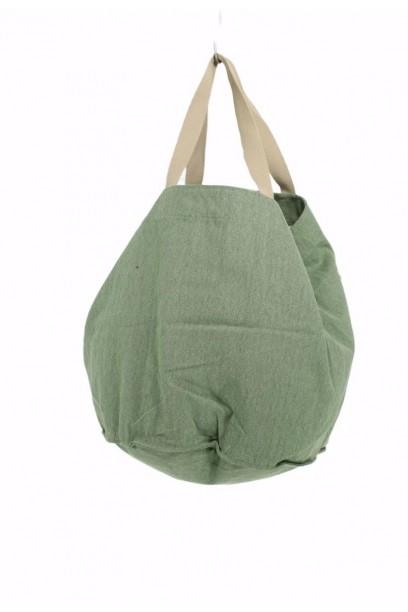 Bolso de loneta oversize verde