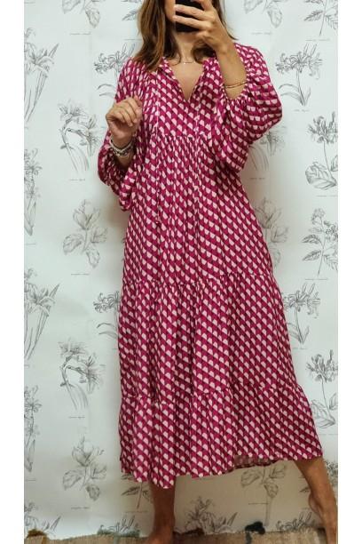 Vestido estampado buganvilla