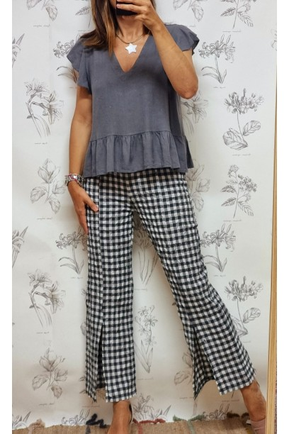Pantalón de cuadros vichy