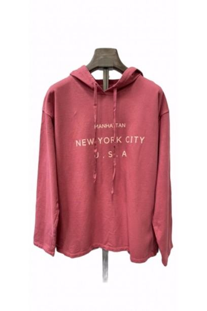 Sudadera New york city fresa