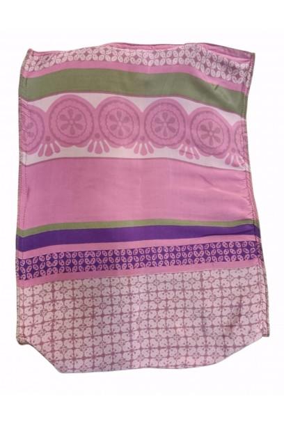 Bolso telas indias y yute Lila