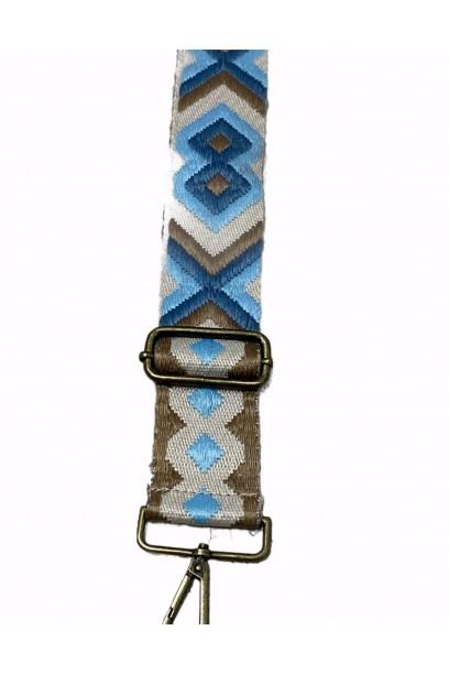 Complemento Correa Para Bolsos beige/azul /camel