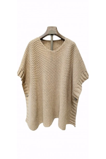 jersey tipo poncho beige