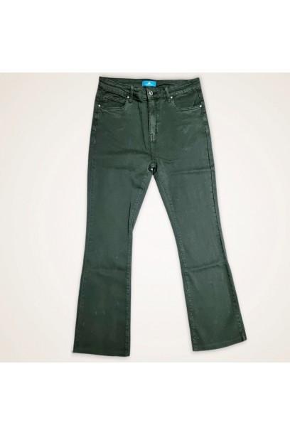 Pantalón vaquero verde militar