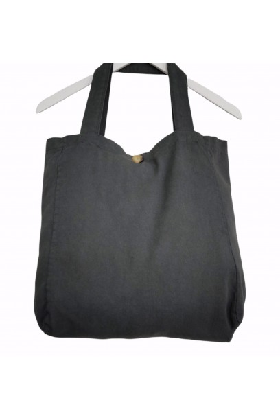 Bolso de loneta gris  con opción de personalizarlo