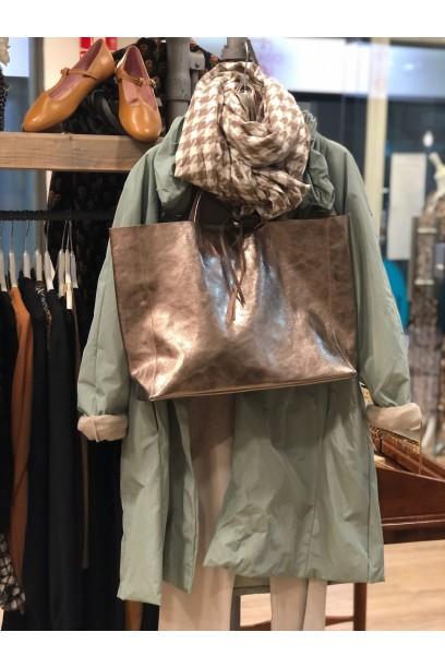 Bolso de piel modelos shopping cobre con opción de personalizarlo