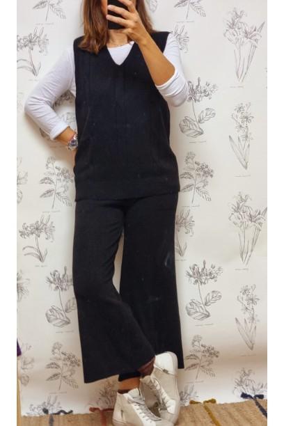 Pantalón de punto negro