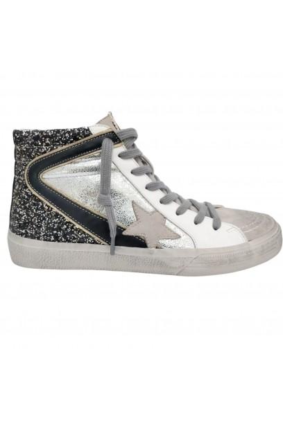 Zapatilla star glitters plata