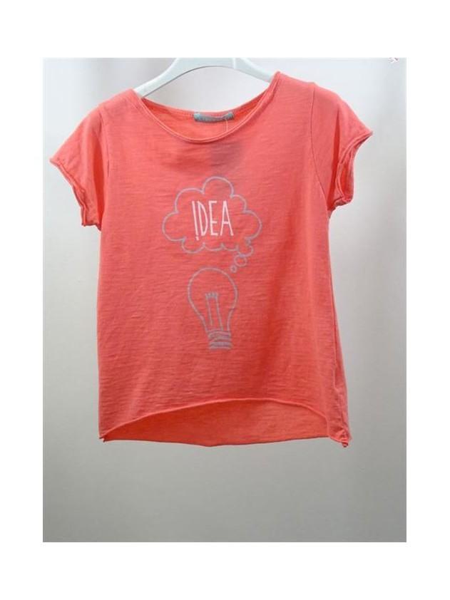 Camiseta de niña manga corta IDEA.